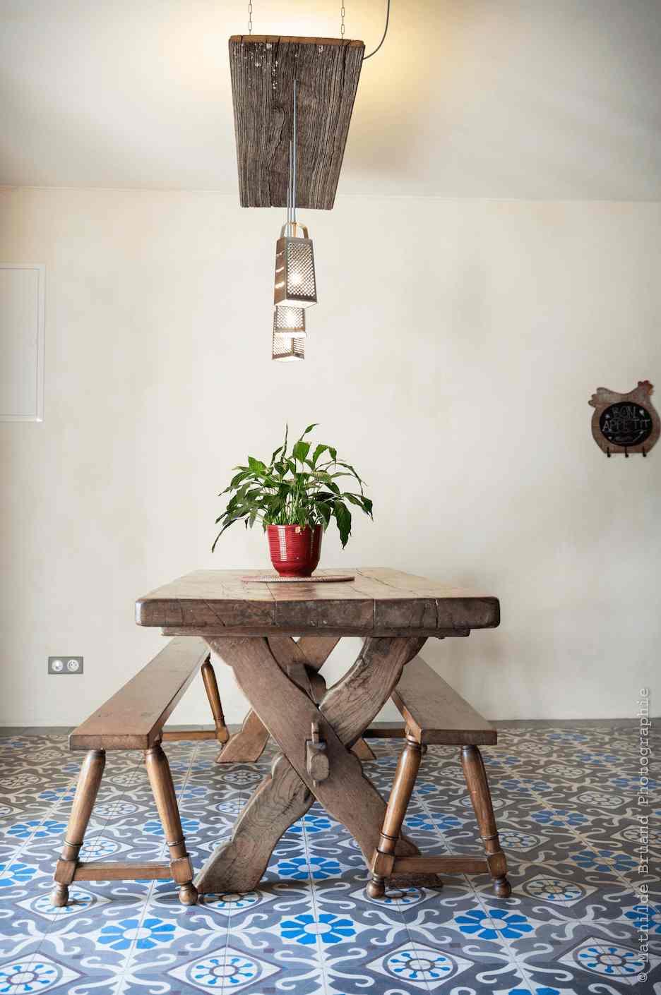 table bois ecolodge bretagne belle verte
