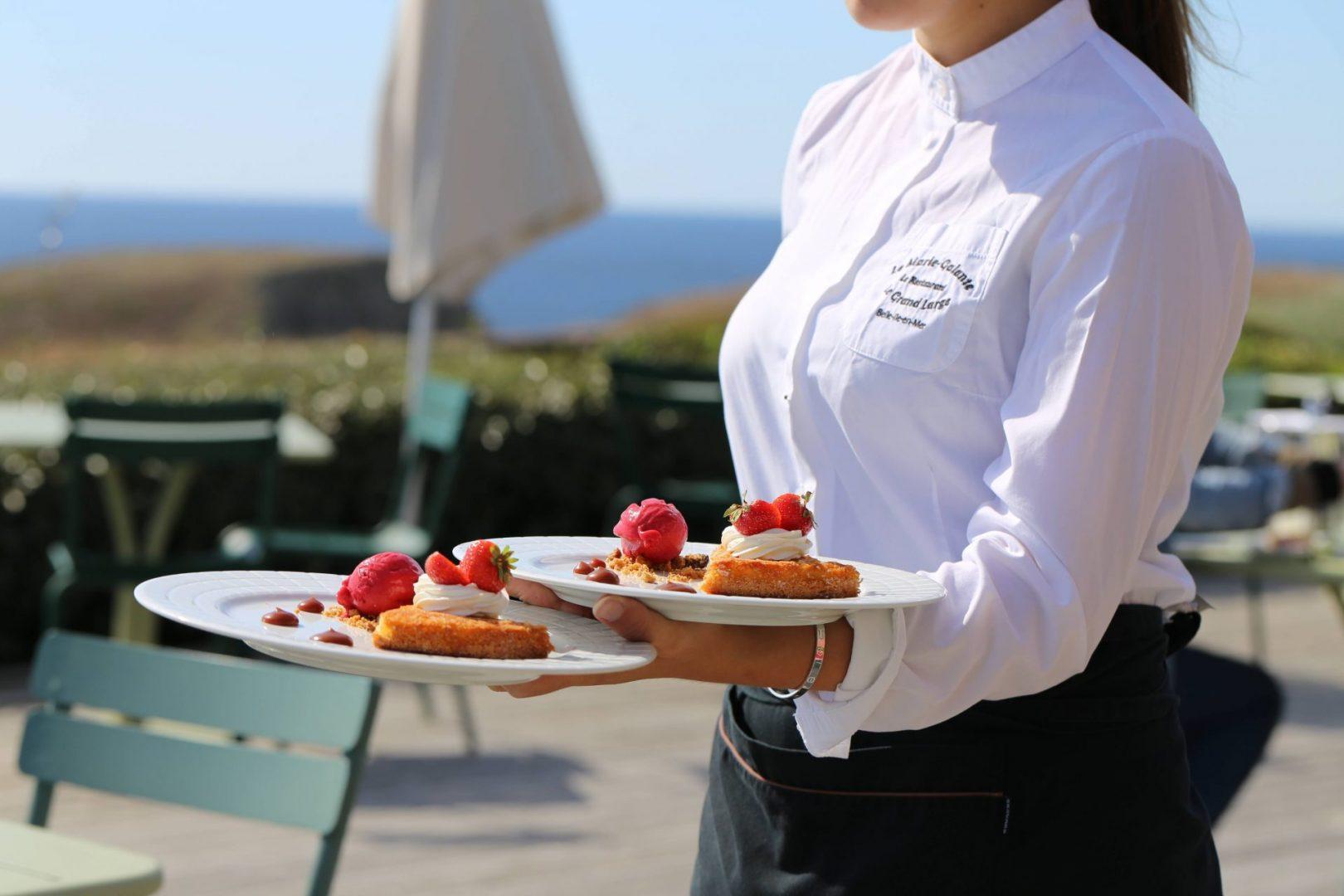 desserts terrasse hotel grand large