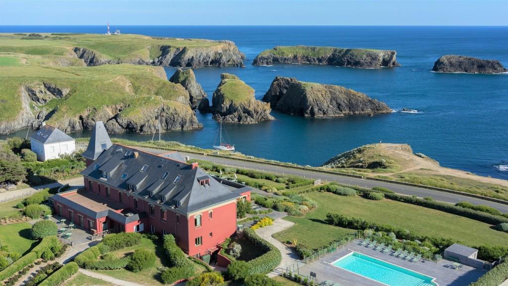 Le Grand Large, l'hôtel et la mer à Belle-Île